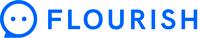 Flourish logga blått