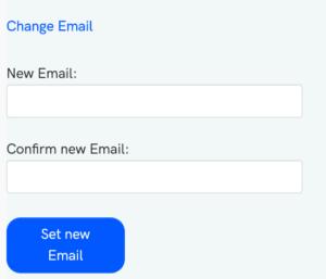 Change Email i Flourish Dashboard