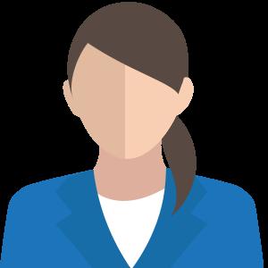 Figur kvinna mörkt hår